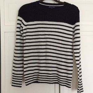 Navy and white striped Gap sweater